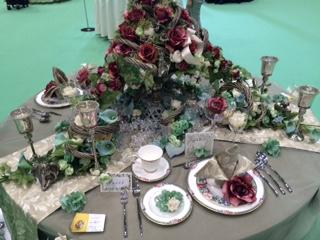薔薇のテーブルコーディネート