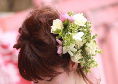 花嫁のヘッドフラワー