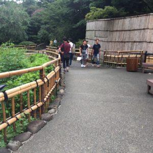 庭園通路②下り坂
