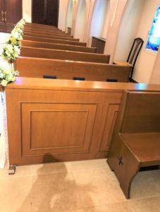教会最前席②