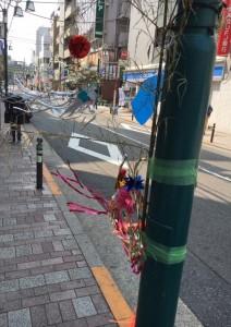 代々木公園駅の商店街の七夕の様子1